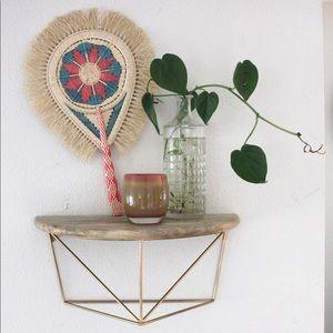 Vintage Decorative Handmade Woven Raffia Fan